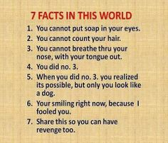 7 Facts In This World...