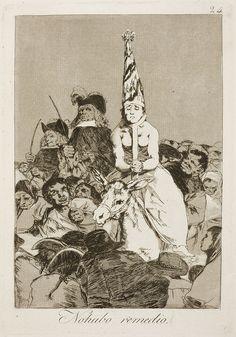Los caprichos: Nessun rimedio; Francisco Goya; acquaforte e acquatinta; 1797-99; Museo del Prado, Madrid, Spagna.