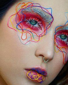 Crazy Makeup, Cute Makeup, Pretty Makeup, Eye Makeup Art, Makeup Inspo, Makeup Inspiration, Makeup Salon, Creative Inspiration, Beauty Makeup