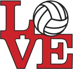Love Volleyball - Red Mural - Brenda Levos  Murals Your Way