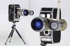 """Retro c1958 Bolex Paillard 8L-B Movie Camera w/ Ednalite Zoom 8 Lens plus Elgeet Cine Navitar 1.5"""" Lens and Mini Tripod – Home Decor Display by RetroPickers on Etsy https://www.etsy.com/listing/260525203/retro-c1958-bolex-paillard-8l-b-movie"""
