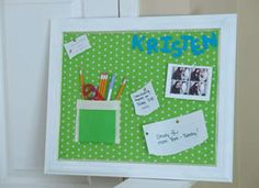 Fabric Covered Corkboard Kids are more likely to complete homework when there is a specific place for them to work. Set …