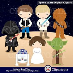 Space Wars Digital Clipart / Star wars Digital Clip art For Personal and Commercial Use / Instant Do Digital Scrapbook, Kit Scrapbook, Digital Collage, Star Wars Birthday, Star Wars Party, E Commerce, Girls Clips, Composition Design, Clip Art