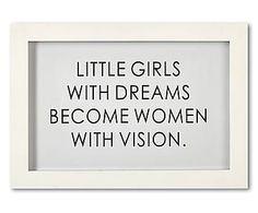 Ingelijste print Women With Vision, zwart/wit, 23 x 33 cm Home Living, Girls Dream, Letter Board, Little Girls, Lettering, Words, Quotes, Poster, Decor