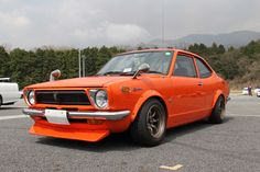 TE27 Corolla Sprinter on requisite RS Watanabes poses at Fuji