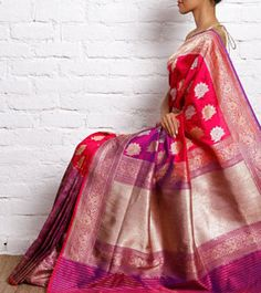 Everything related to indian fashion; whether it be bridal or casual. (I do not own anything I post; Indian Silk Sarees, Pure Silk Sarees, Indian Attire, Indian Wear, Indian Dresses, Indian Outfits, Elegant Saree, Desi Clothes, Traditional Sarees