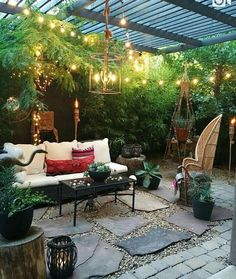 Backyard ideas, create your unique awesome backyard landscaping diy inexpensive on a budget patio - Small backyard ideas for small yards Backyard Sitting Areas, Backyard Patio Designs, Backyard Pergola, Small Backyard Landscaping, Small Patio, Patio Ideas, Backyard Ideas, Backyard Pools, Pergola Ideas