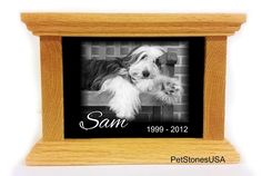 cat Cremation Urn Oak Wood Box Photo Memorial Granite Any Animal Personalized Personalised Labrador Golden Retriever *** Trust me, this is great! Click the image. (This is an amazon affiliate link. I may earn commission from it)