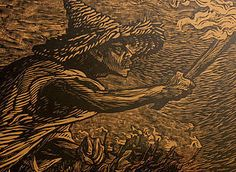 Leopoldo Mendez Modernist Mexican Woodcut Torches