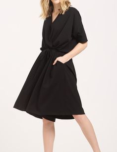 Relaxed Fit Wrap Playsuit with Drawstrings in Black  https://www.paisie.com/collections/new-in/products/relaxed-fit-wrap-playsuit-with-drawstrings-in-black