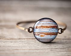 Jupiter thin cuff bracelet  Science jewelry  Galaxy by BeautySpot