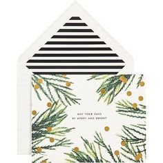 kate spade new york Pine Branches Holiday Cards