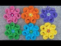 Crochet Bell Petal Flower - Right & Left Hand - DIY Tutorial for Flowers Flor Flores - YouTube