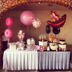 """Mesa de dulces Begoña y Benjamín """"Barbie y Pirata"""" 3/11/12 www.cocoacreaciones.com"""