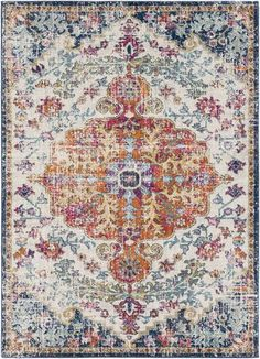 x 10 ft. 10 in. x 10 ft. 3 in. Indoor Area Rug The post Artistic Weavers Demeter Ivory 8 ft. x 10 ft. Indoor Area appeared first on Vardagsrum Diy. Diy Home, Home Decor, Look Boho Chic, Polypropylene Rugs, Orange Area Rug, Blue Area, Eclectic Design, Modern Design, My New Room