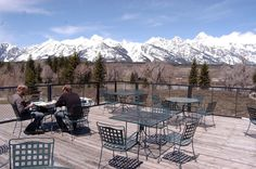 Dornan's in Moose, WY. A good place to stop for a glass of wine after a long day in Grand Teton National Park. Stay at Turpin Meadow Ranch and enjoy these vistas for yourself!