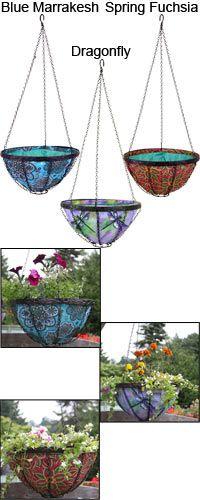 Hanging Garden Art Basket at The Rainforest Site. Very lovely baskets!