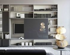 Discover recipes, home ideas, style inspiration and other ideas to try. Living Room Tv Unit, Home Living Room, Living Room Designs, Living Room Decor, Bedroom Decor, Muebles Rack Tv, Home Office Design, House Design, Muebles Living