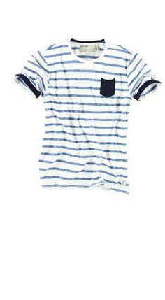 T-shirt Garcia F31124 ANTHONY MEN 50 White