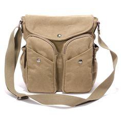 2016 New Men Messenger Bags Canvas Vintage Bag Men Shoulder Crossbody Bags  for Man Coffee Black Small Bag Designer Bolso 1357 519c805249