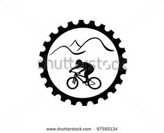 Bicycle gear with mountain bike rider