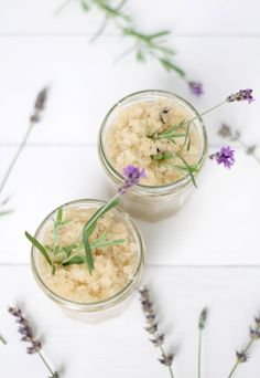This DIY lavender scrub will have your skin feeling extra smooth.