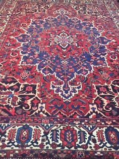 10' x 13' Semi-Antique Genuine Persian Bakhtiari Oriental Rug - Hand Made #TraditionalPersianOriental  $2200