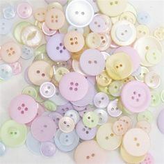 Pale pastel buttons