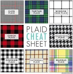 Go mad for this guide to plaids. (SORRY.) | 41 Insanely Helpful Style Charts Every Woman Needs Right Now