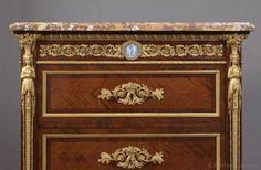 JOSEPH-EMMANUEL ZWIENER (c.1848-1895)  A Fine Louis XVI Style Five Drawer, Marble Top Chiffonier