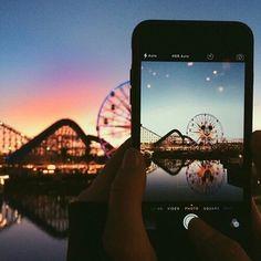 Imagem de iphone, photography, and sunset