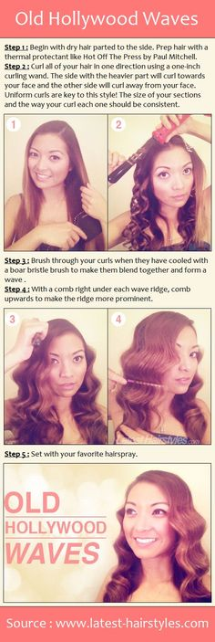 Old Hollywood Waves | I can do this! Only I sleep with curlers overnight because I do not want to ever use heat on my hair again if I can help it.