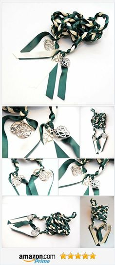 4 Charm Forest Green Celtic Wedding Handfasting 6ft Cord V2~ Wedding Ceremony ~ Divinity Braid ~ Celtic Handfasting ~ Tree of Life https://www.amazon.com/dp/B06XSB638F