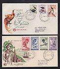 Papua New Guinea 1964 Health , Birds of Paradise WCS FDC x 2 - 1964, BIRDS, GUINEA, health, PAPUA, PARADISE