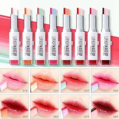 $3.19 AUD - Two-Tone Tint Lip Bar Long Lasting Makeup Lipstick Lip Balm Gradient Lips Color #ebay #Fashion