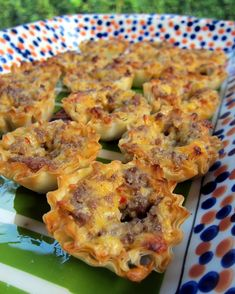 Sausage and cheese tarts