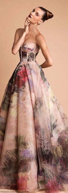 Rani Kakhem glamour floral gown. So pretty