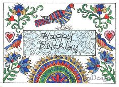 Fraktur Word Sign  Inspiration HAPPY BIRTHDAY  by THEODORADESIGNS, $5.00