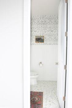 Bathroom Accent Wall, Bathroom Accents, Vintage Art Prints, Vintage Artwork, Plaid Wallpaper, Bright Kitchens, Valley View, Wall Art Designs, Portfolio Design