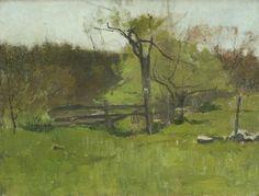 Emil Carlsen The Old Fence, c.1920