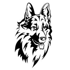 German Shepard Die Cut Vinyl Decal PV994