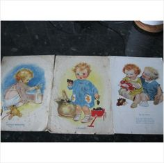 3 vintage pictures presented with Womans Companion magazine 1930's on eBid United Kingdom