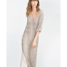 OPEN KNIT DRESS - View all - Dresses - WOMAN | ZARA United States ($70) via Polyvore