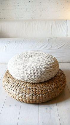 Crochet Floor Cushion by Lacasadecoto