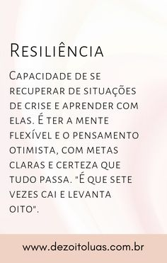 Significado de resiliência Amanda, Daisy, Words, Memes, Quotes, Meaning Of Words, Writing Quotes, Motivation Quotes, Pray Tattoo