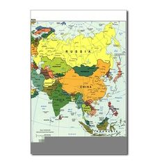 High resolution world map pdf bing images pinterest asia map postcards package of 8 gumiabroncs Choice Image