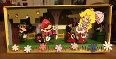 Awesome Paper Mario: Sticker Star dioramas, crafted by Gigi DG (top) and Finchiekins the Owl (bottom) for Nintendo's recent contest