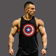 Musculation! 2017ベストボディービルclothingとフィットネス男性アンダーシャツタンクトップトップス金メダル男性アンダーシャツxxl世界のおかげ