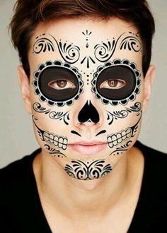 calavera face paint for men - Google Search
