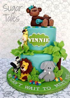 Jungle Baby Shower Cake.